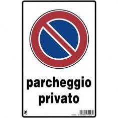 CARTELLO PLASTIFICATO DIVIETO DI SOSTA PARCHEGGIO PRIVATO